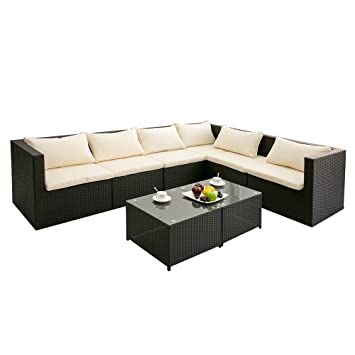 Amazon De Life Carver Garten Ecksofa Garnitur Rattan Sofa Set