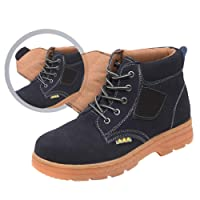 Mens Safety Shoes Steel Toe Caps Anti-Puncture Work Shoes Trainers Men Waterproof Shoes Hiker Protective Five Colors Size 35-46