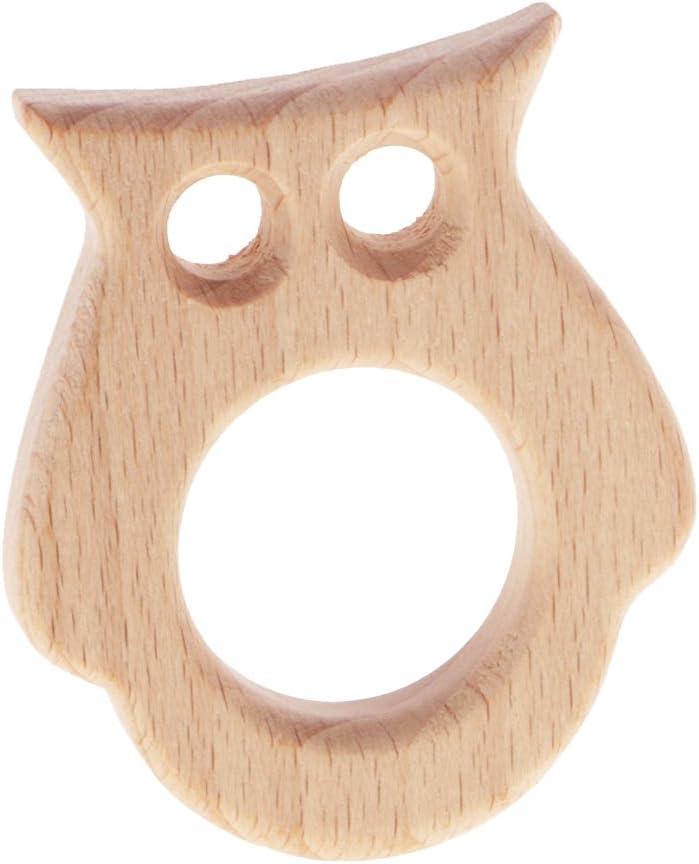 8PC Baby Teether Geschenk Montessori Spielzeug Holz Vogel Elefant Eichh/örnchen Fisch Handgefertigt Anh/änger
