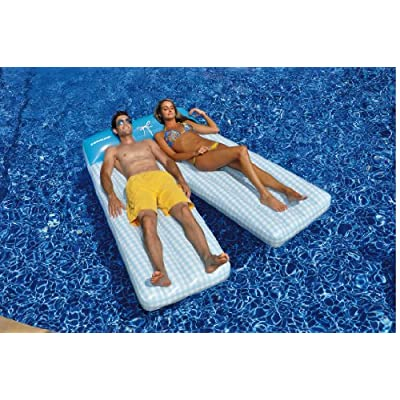 Swimline Board Shorts Double Mat Pool Float: Toys & Games