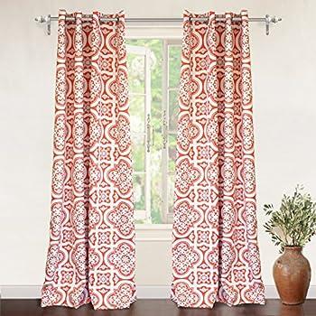 Amazon.com: Lavish Home Metallic Grommet Curtain Panels, 84-Inch ...