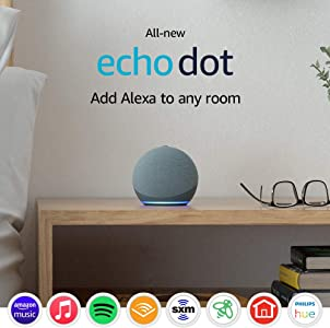 All-new Echo Dot (4th Gen)   Smart speaker with Alexa   Twilight Blue