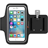 iPhone 6S Armband, iPhone 6 Armband, Trianium ArmTrek Sports Exercise Armband for Apple iPhone 6 6S Running Pouch Touch Compatible Key Holder [Black] Good For hiking,Biking,Walking