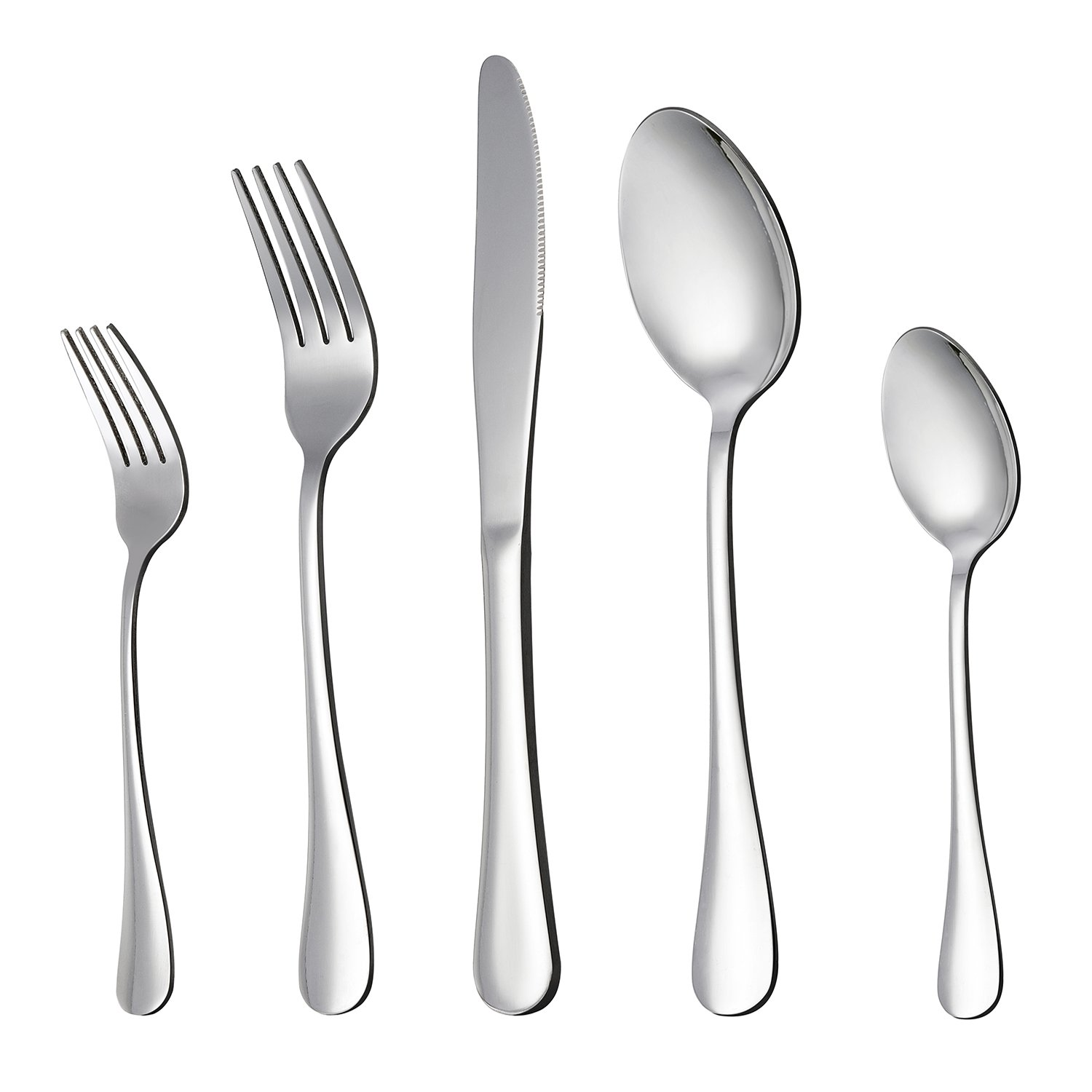 LIANYU 20-Piece Silverware Flatware Cutlery Set, Stainless Steel Utensils Service for 4, Include Knife/Fork/Spoon, Mirror Polished