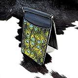 RODEO Paint Chic Peacock Genuine Stingray Money Clip 6 Card Slot Photo Holder