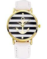 Wensltd(tm) Women Dress Watches Leather Strap Anchor Watches