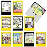 """NobleWorks A1243 """"Doggone Funny"""" Box of 10 Assorted Funny Birthday Greeting Cards"""