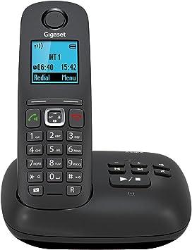 Gigaset Gigaset A540A - Teléfono fijo inalámbrico (manos libres, mínimas radiaciones, DECT/GAP), negro [Versión Importada]: Amazon.es: Electrónica