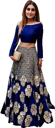 Amazoncom Rekha Ethnic Shop Royal Blue Color Heavy New Designer