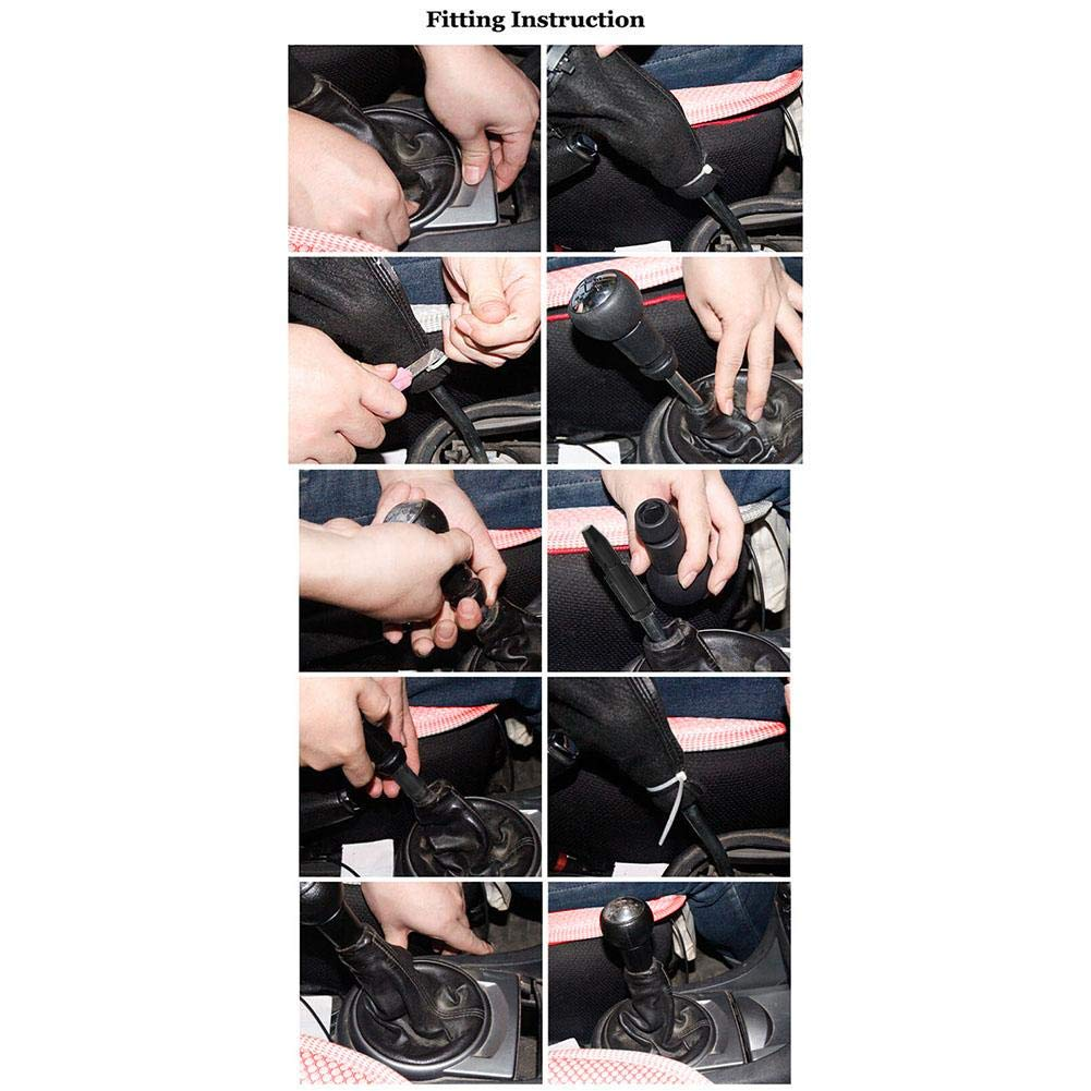 Auto Car Gear Stick pomello del Cambio,Pomello Cambio Manuale Cambio a 5 Marce Manuale per Peugeot 106 206 306 406 107 207 307 407 301 308 2008 3008 Citroen C2C4 Saxo XSARA Picasso BERLINGO di Sunneey