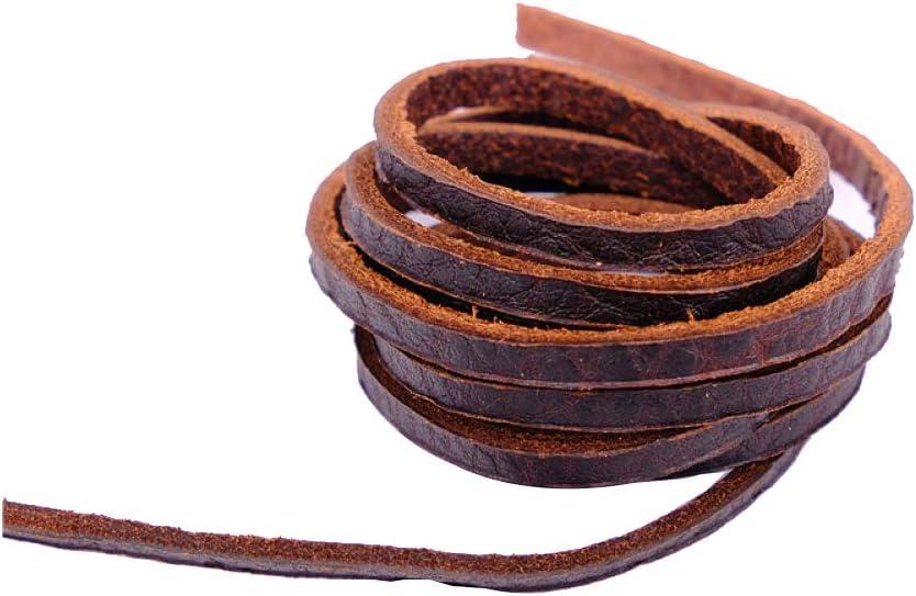 Wilk Cordón de Cuero Genuino 3 mm Tira de Cuero Trenzado del Cable de Cadena de Pulsera Collar Rebordear la joyería DIY Crafts café 1PC