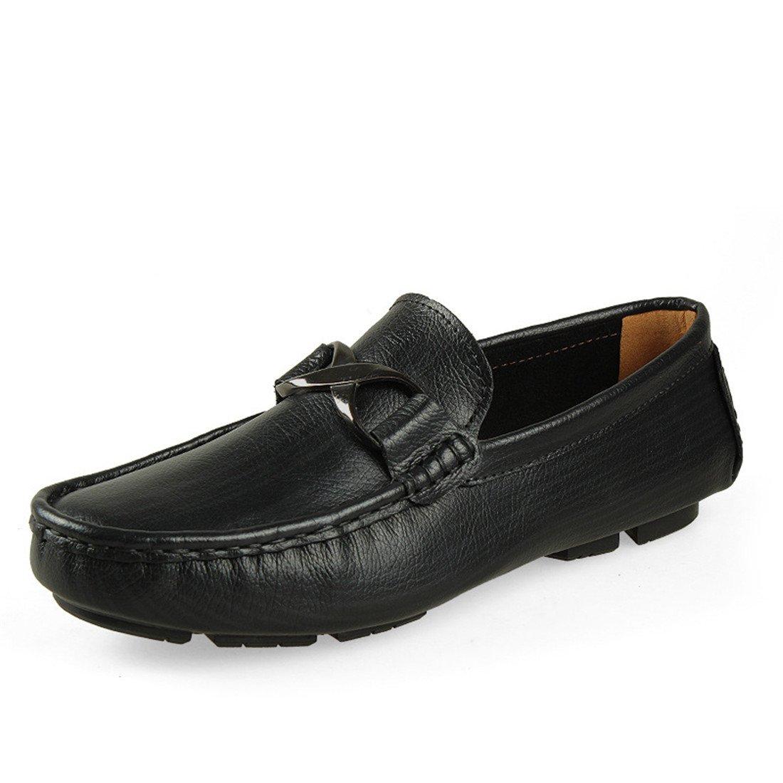 SKY-Maria Herren Licht Freizeit Atmungsaktiv Lederschuhe Flache Schuhe Rutschfest Große Größe Lässige Schuhe Grösse 35-50