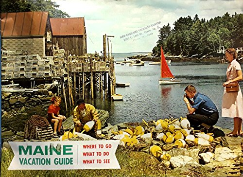 Vintage Mid-Century Original Maine Vacationland Full Color Vacation Guide