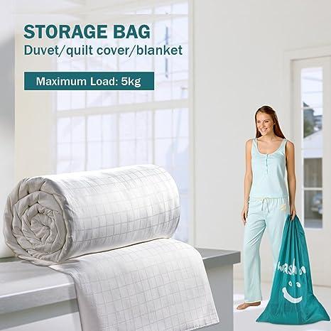 wimaha Extra grande bolsa de lavandería Durable práctico estuche de viaje tela poliéster bolsa de almacenamiento con cordón ajustable cierre de bloqueo para ...