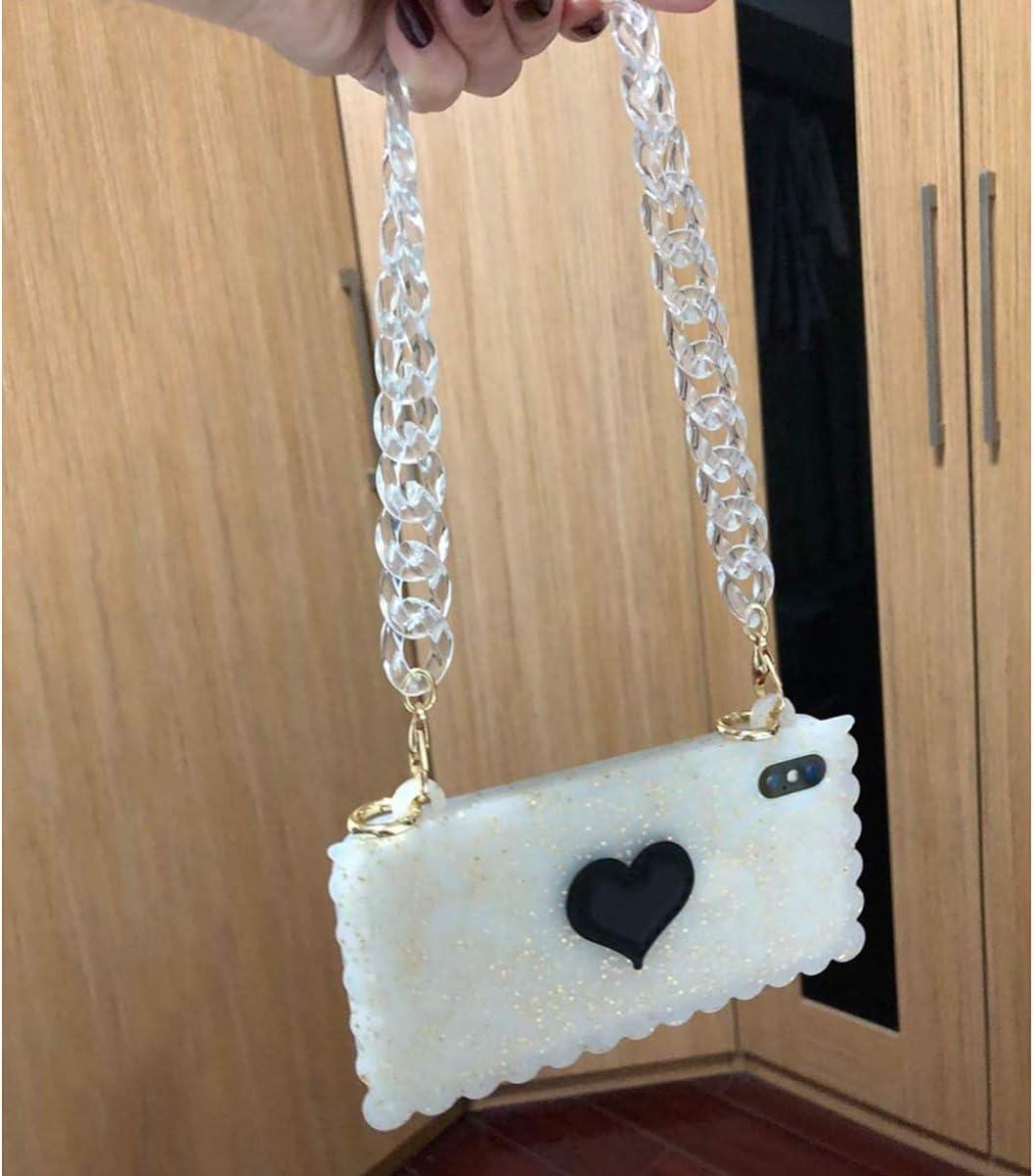 Black SUPVOX Acrylic Bag Chain Straps Plastic Purse Straps Replacement Shoulder Bag Chain for DIY Purse Making Repairing 120cm