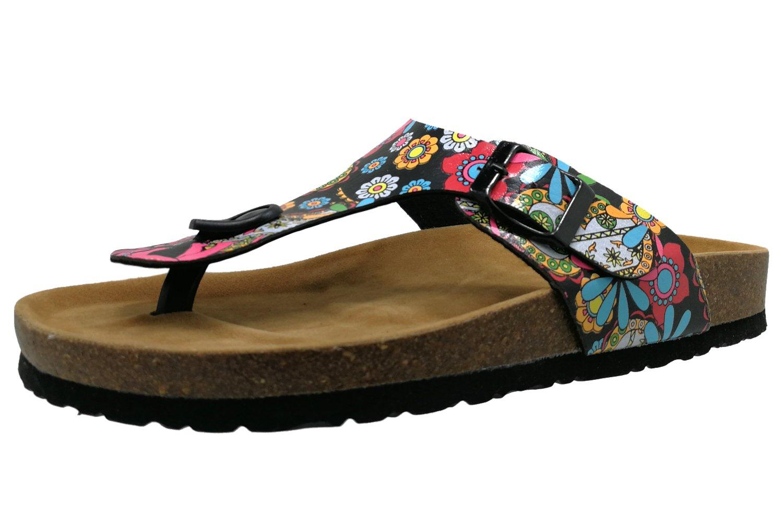 Royou Yiuoer Women's Sandals Flat Platform Gladiator Thong T-Strap Summer Beach Flip Flop Casual Slip-on Shoes 11 US