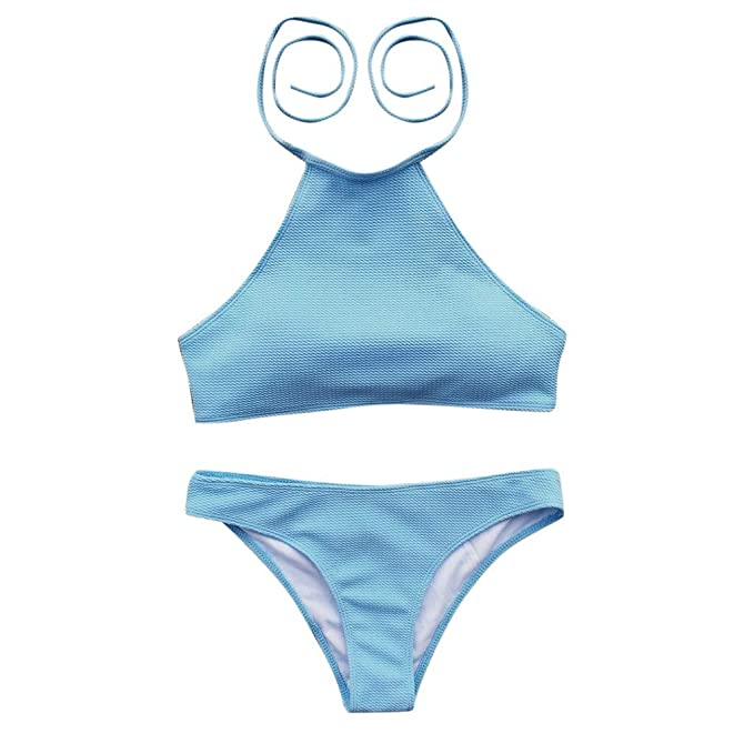 LSAltd ☪ Bandage Bikini para Muejrs en Verano Sujetador + T-Back de Color