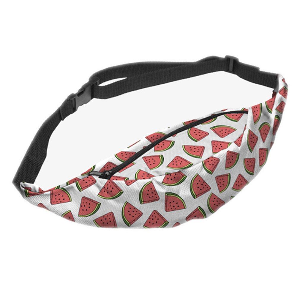 XUEERBAO New 3D Colorful Waist Pack For Men Bum Bag Women Money Belt Travelling Mobile Phone Bag Light Green