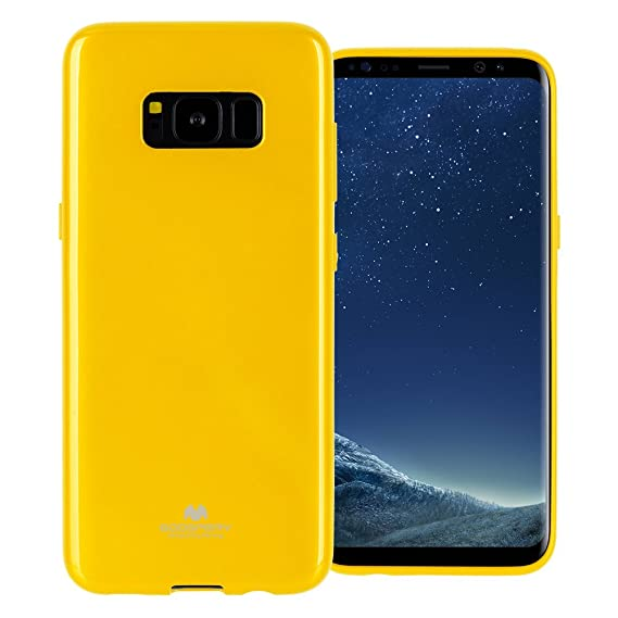 competitive price ce03d c242b GOOSPERY Marlang Marlang Galaxy S8 Case - Yellow, Free Screen Protector  [Slim Fit] TPU Case [Flexible] Pearl Jelly [Protection] Bumper Cover for ...