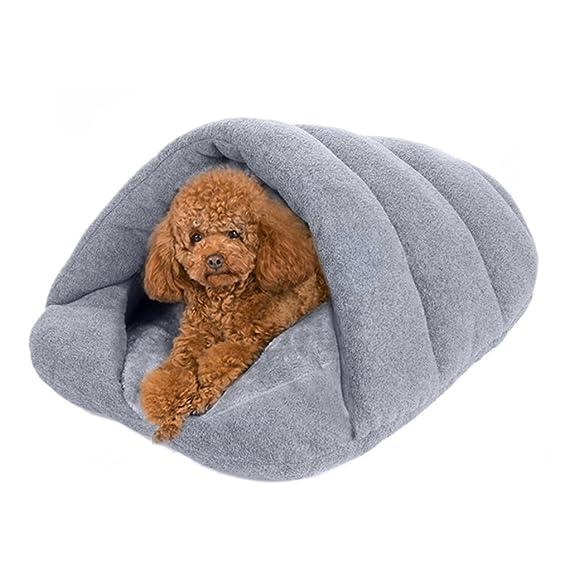 Caseta para perros, lujosa caseta para perros y gatos, saco de dormir caseta confortable, esterilla, cojines, camas para perros, gatos y conejos, ...