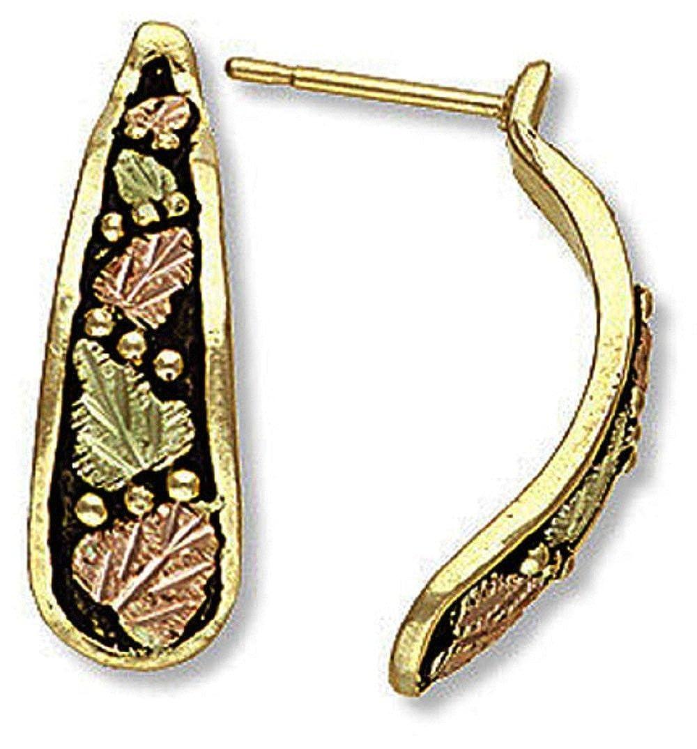 G L01708 for Pierced Ears Landstroms 10k Black Hills Gold Antiqued Earrings