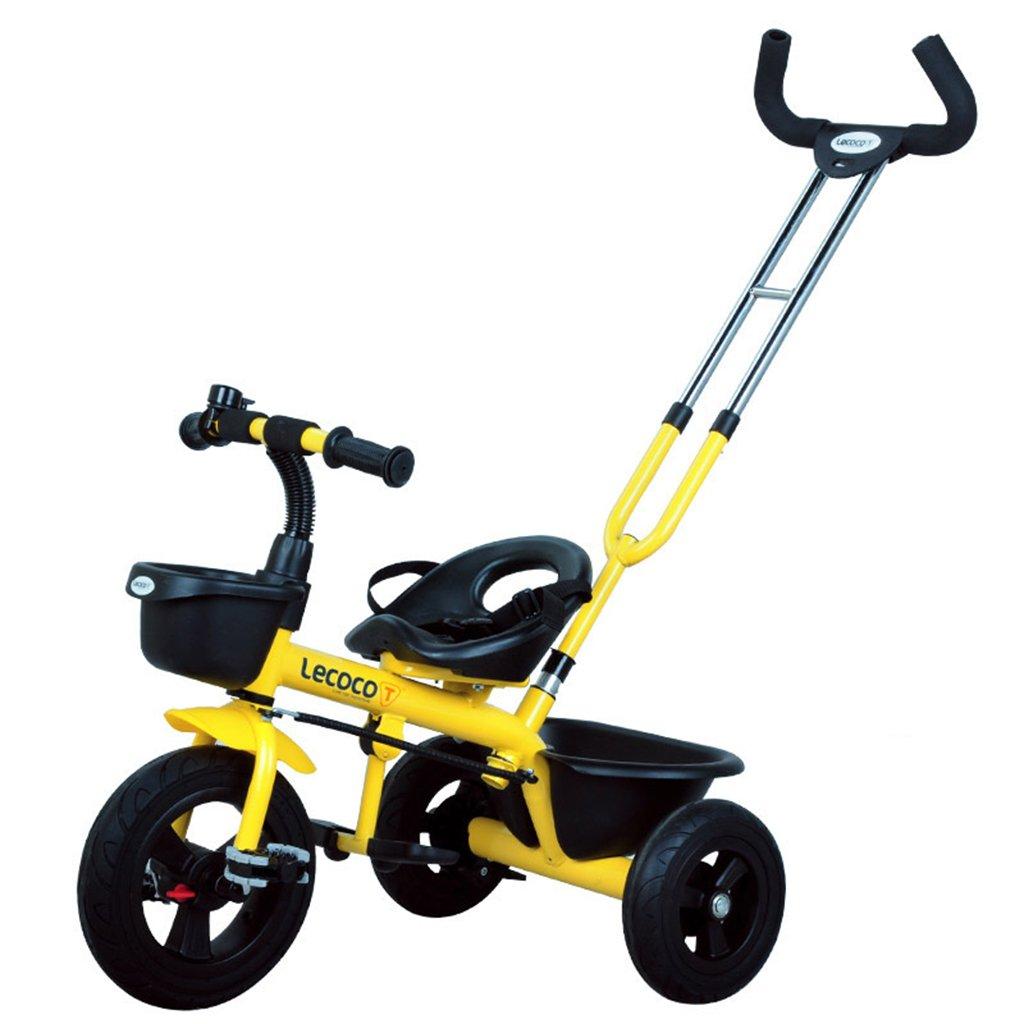 XQ 子供の三輪車の自転車キッズバイク3-6歳のパターのシートベルト 子ども用自転車 ( 色 : イエロー いえろ゜ ) B07CGBQSJBイエロー いえろ゜