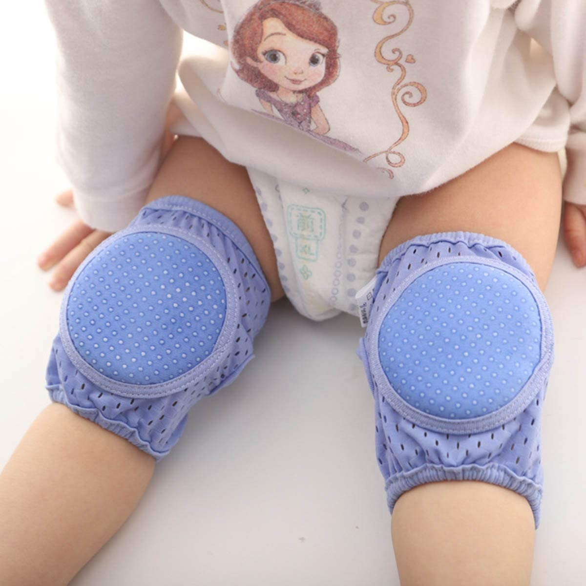 Haokaini 2pair Unisex Adjustable Anti-skid Baby Knees Pads for Crawling