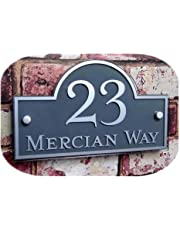 200 * 300mm Curved Customized Transparent Acrylic with Vinyl Sticker House Signs Door Numbr Plates Plaques Door Number/Street Name