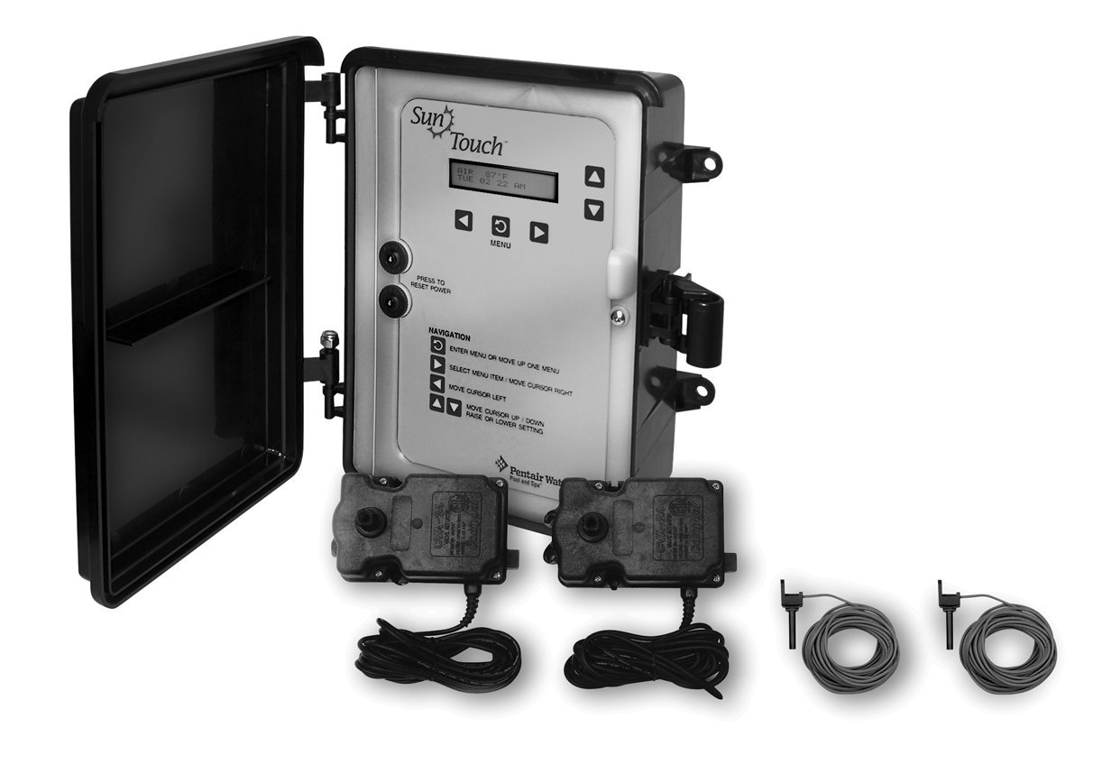 Pentair 520856 SunTouch Pool and Spa Solar Control System with 3-Way Valve, Black/Grey by Pentair