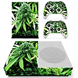 xbox one controller decal cover - SKINOWN Xbox One S Slim Skin Weed Marijuana Sticker Vinly Decal Cover for Xbox One Slim(XB1 S) Console and 2 Controller Skins