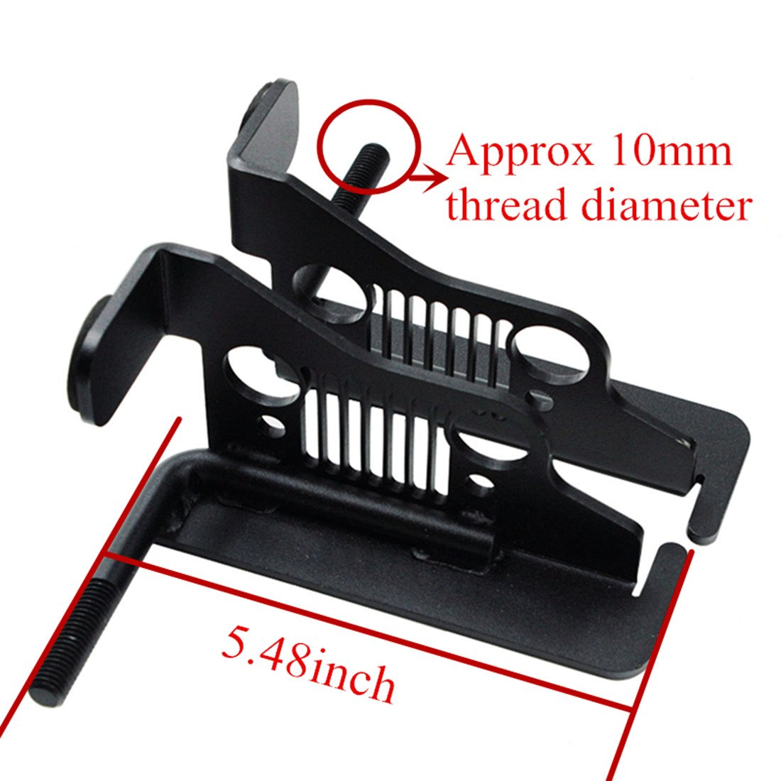 iFJF Solid Oxidized Iron Front Foot Pegs-Black Powder Coated Foot Rest Grille Kick Panel for 2007-2017 Jeep Wrangler Jk JL JKU Unlimited(1pair) by iFJF (Image #5)