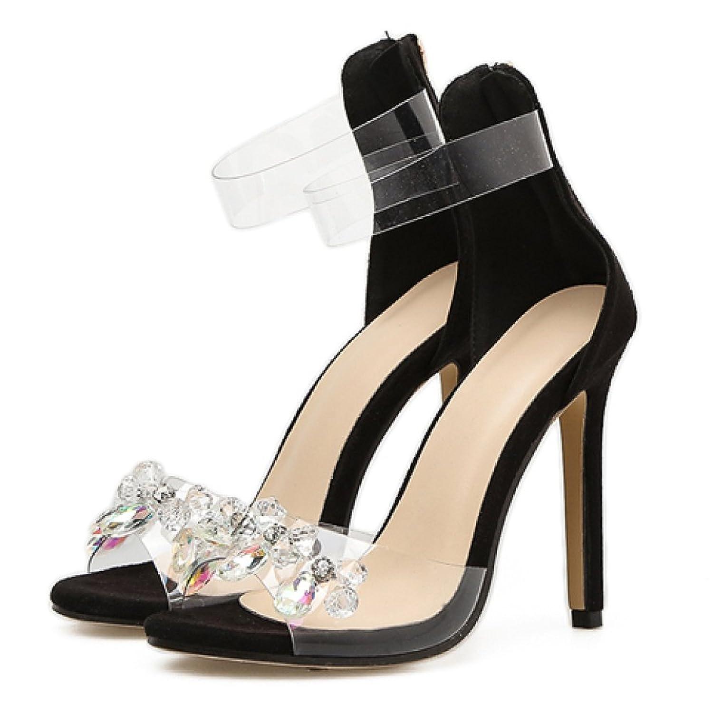 ZPFMM Frauen High Heels Sexy Flach Slip-On Stiletto Sandalen Kleid Hochzeit Pumps Damen Braut Spitz Schuhe