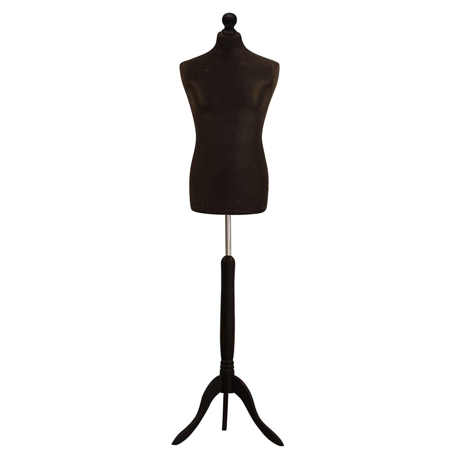 Black Male Tailors Dummy Mannequin With A Black Wood Stand ANKMARKETING LTD