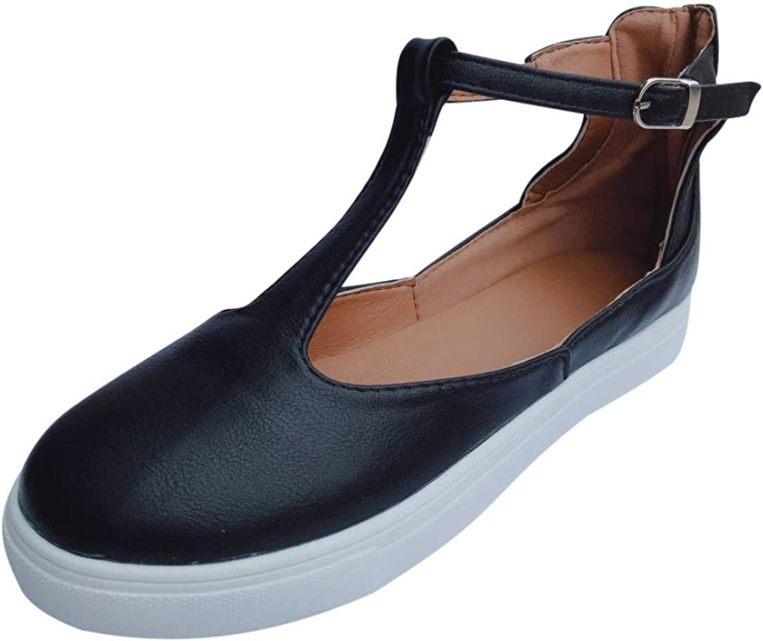Ansenesna Sandalen Damen Flache Geschlossen Kn/öchel Schnalle Schuhe Vintage F/ür Outdoor Trekking