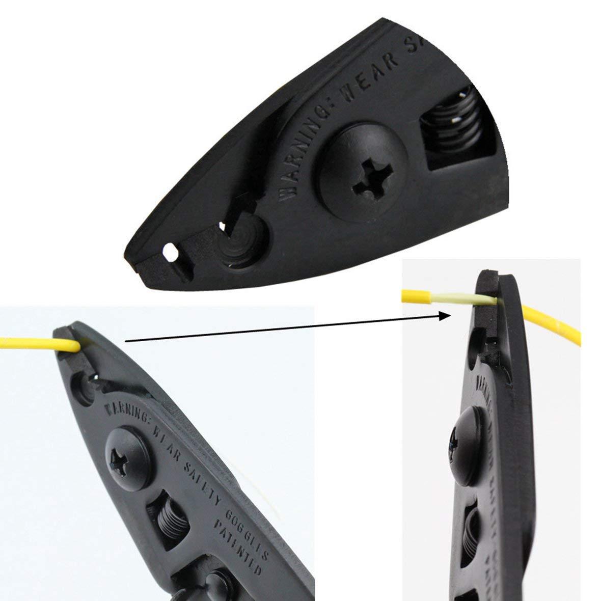 Heaviesk Fiber Optic Stripper CFS-2 Fiber Optic Stripper 2 orificios Fiber Cable Stripper Herramienta FTTH Fibra /óptica Pelacables alicates Alicates