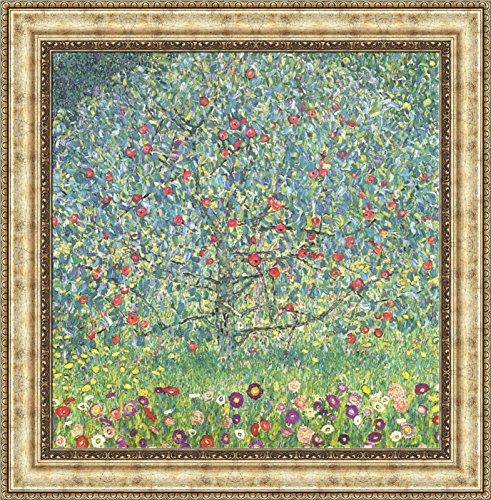 Gustav Klimt Apple Tree I Framed Canvas Giclee Print - Finished Size (W) 27.4'' x (H) 27.9'' [Silver] (V09-01G-MD393-05) (Apple Tree Gallery)