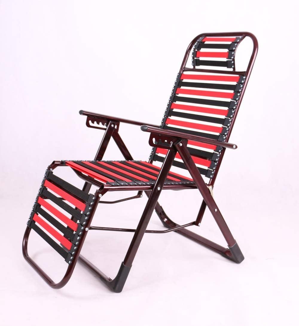LLYU Silla de Cubierta Saludable al Aire Libre multifunción Silla de Goma elástica reclinable Creativa Silla de Tira elástica de Playa Transpirable