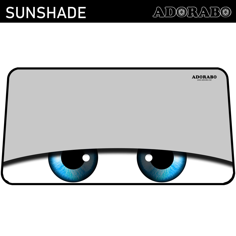 ADORABO Parasol para Parabrisas de Coche Ojos De Dibujos Animados Negro