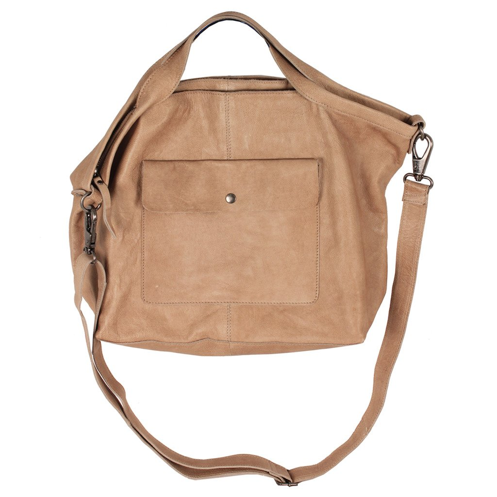 Latico Leathers Colin Tote Genuine Authentic Luxury Leather, Designer Made, Business Fashion and Casual Wear, Oat