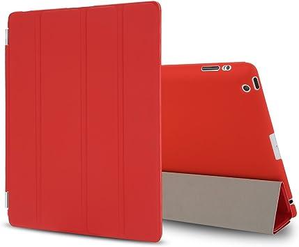 Besdata® Funda Carcasas diseñado poliuretano para Apple iPad 2/3/4 Apple iPad Smart Cover (NO es para iPad Air 2) Rojo - PT2603: Amazon.es: Informática