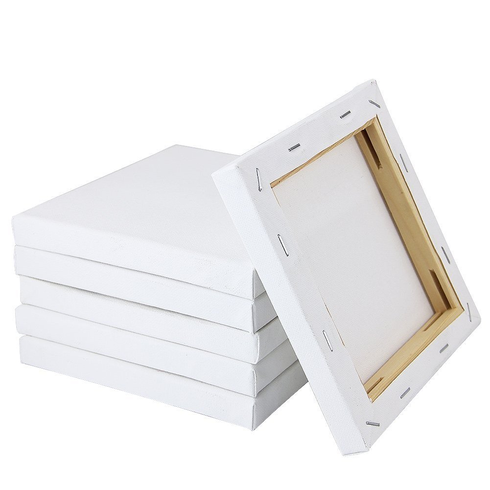 ZILONG Stretched Canvas 6'' X 6''- Blank Canvas Board 6-Piece Pack Art Canvas frame