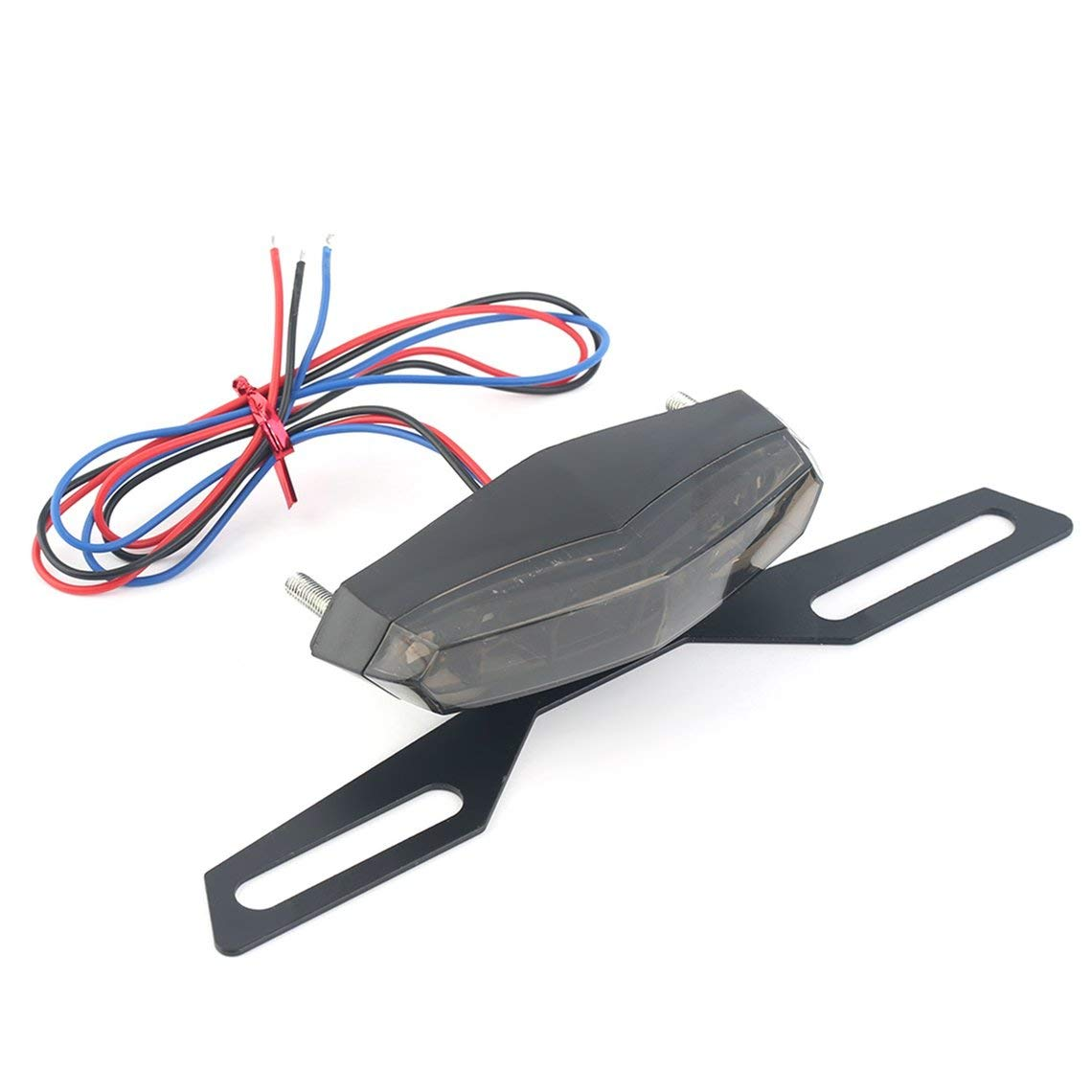 Zinniaya ABS and Metal Black Long life Low Consumption Professional LED Motorcycle Rear Tail Light Brake Stop Light