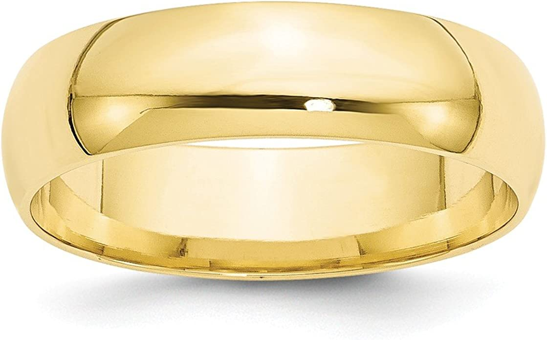 Brilliant Bijou 14k Yellow Gold 3mm LTW Milgrain Half Round Mens Womens Wedding Anniversary Band Size 12.5