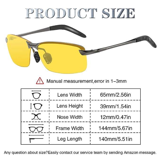 Amazon.com: Gafas de conducción nocturna, polarizadas, gafas ...