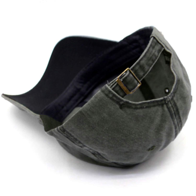 Unisex Vintage Washed Distressed Baseball-Cap Twill Adjustable Dad-Hat (Z-2pc (Black+Burgundy)) by Mommy Jennie (Image #5)