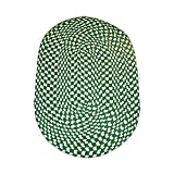 Oval Area Rug 6' X 4' Green Nylon For Kitchen Colonial Style