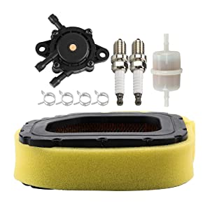 Kuupo 32 083 03-S Air Filter Pre Cleaner with 24 393 16-S Fuel Pump Stens 120-436 Fuel Filter for SV710 SV715 SV720 SV730 SV735 SV810 SV820 SV840 Engine John Deere MIU11943 Toro 98019 Lawn Tractor