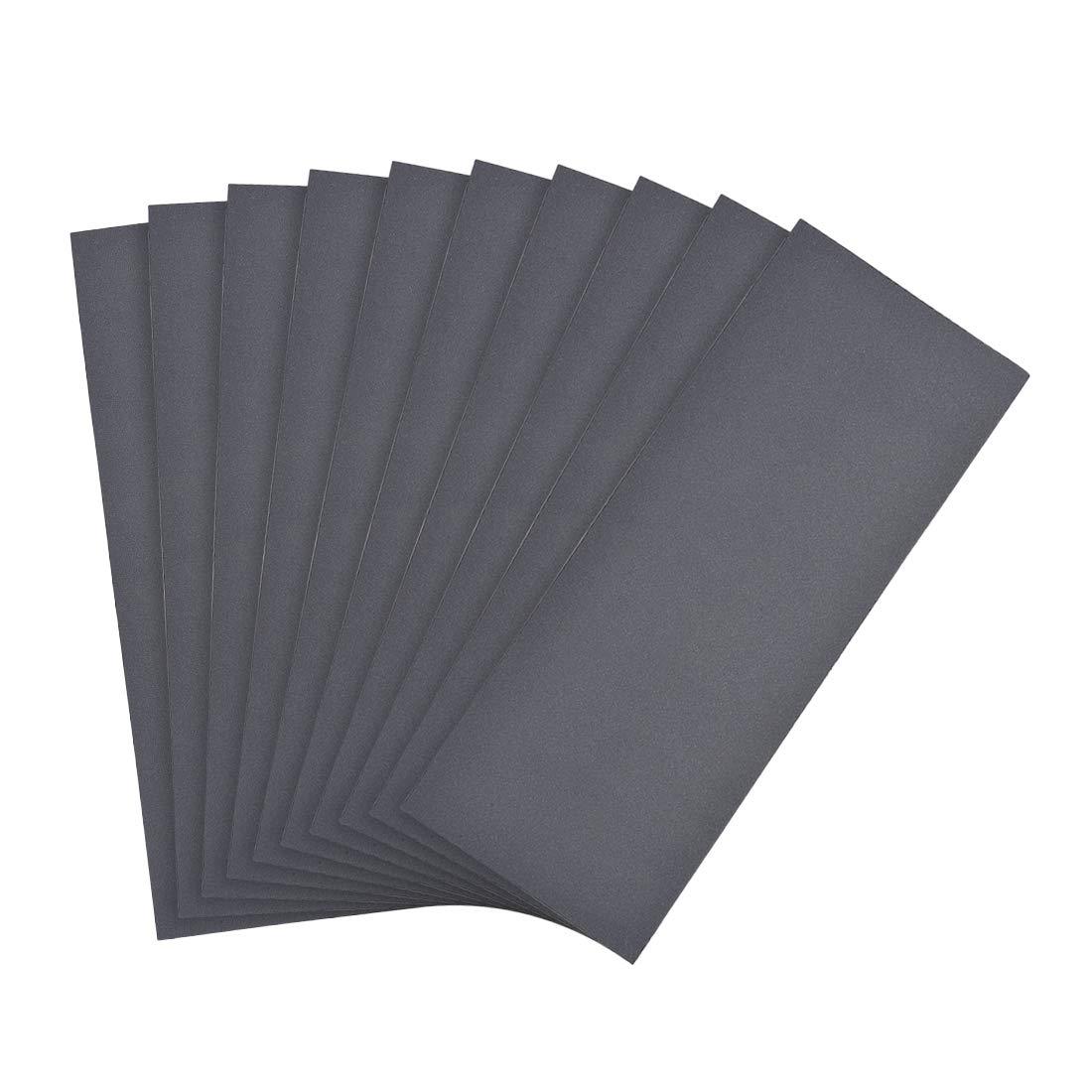 pulido automotriz lijado de metal Papel de lija impermeable Sourcing grano de papel de arena seco y h/úmedo para acabado de muebles de madera 10 unidades de 9 x 3,7 pulgadas