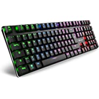 Sharkoon PureWriter RGB Mechanische Low Profile-Tastatur (RGB Beleuchtung, rote Schalter, flache Tasten, Beleuchtungseffekte, abnehmbarem USB Kabel) schwarz