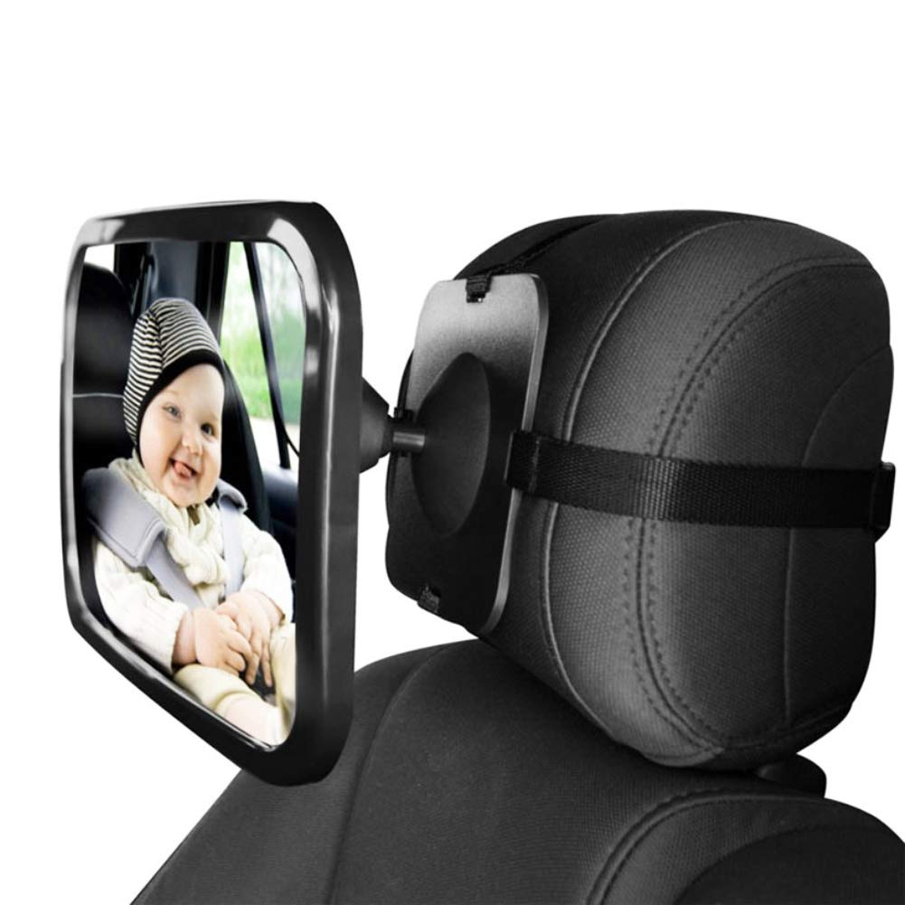Oun Nana Baby Car Mirror Rear Facing Back Seat Clear to Observe The Baby's Every Move, Secure Shatterproof 360 Degree Adjustable